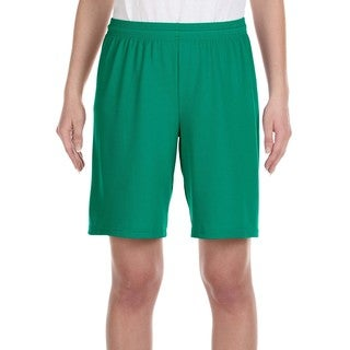 For Team 365 Youth Kelly Polyester Mesh 9-inch Sport Shorts