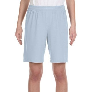 For Team 365 Youth Light Blue Mesh 9-inch Sport Shorts