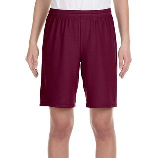 For Team 365 Youth Maroon Polyester Mesh 9-inch Shorts