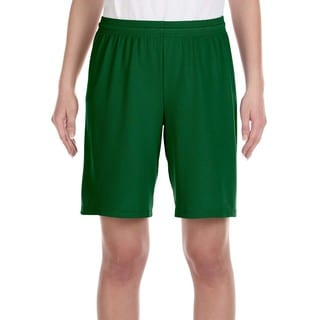 For Team 365 Youth Forest Mesh 9-inch Sport Shorts