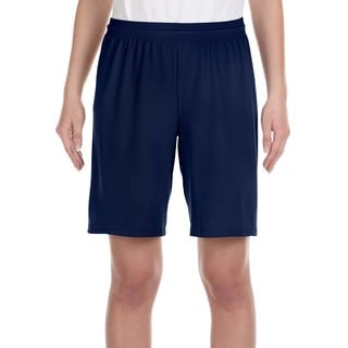 For Team 365 Boy's Sport Navy Mesh 9-inch Short
