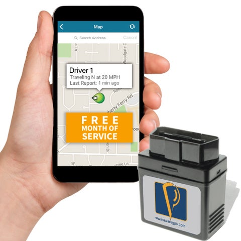 AwareGPS GPS Tracker, Real Time GPS Tracking, Car GPS Locator with Free Month of Service, OBD Version - No Contracts