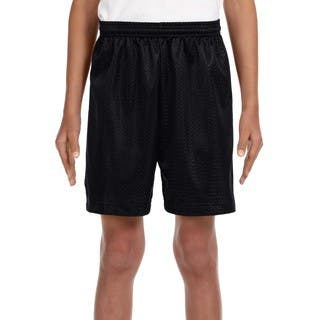 Boy's Black Mesh Tricot-lined 6-inch Shorts|https://ak1.ostkcdn.com/images/products/12556857/P19357465.jpg?impolicy=medium