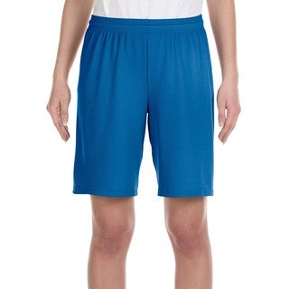 For Team 365 Youth Royal Mesh 9-inch Short Sport