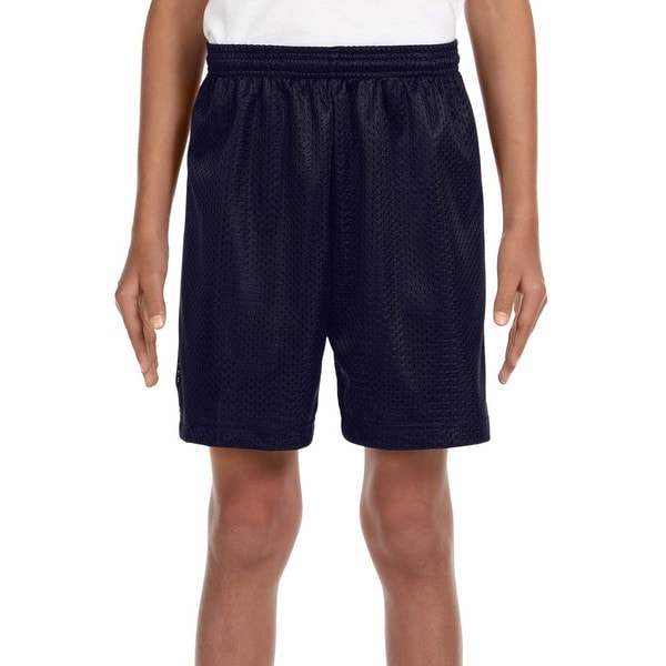 Tricot-lined Youth 6-inch Mesh Shorts Navy. Opens flyout.