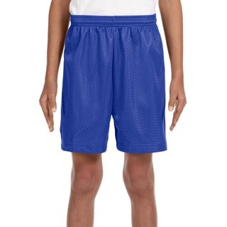 Youth Royal Blue Mesh Tricot-lined 6-inch Shorts