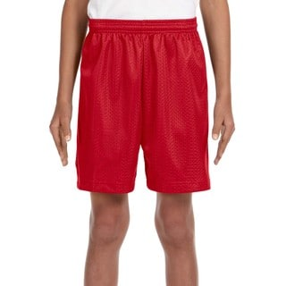 Link to Boys' Scarlet Red Tricot-lined Mesh 6-inch Shorts Similar Items in Boys' Clothing