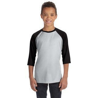 For Team 365 Youth Silver/Black Polyester Baseball T-shirt
