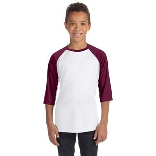 For Team 365 Youth White and Maroon Baseball T-shirt