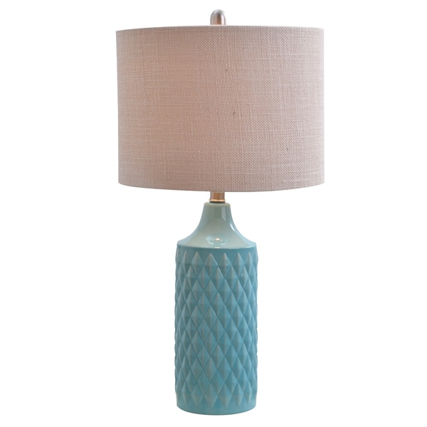 Catalina Lighting Cassie Quilted Ceramic Led Table Lamp