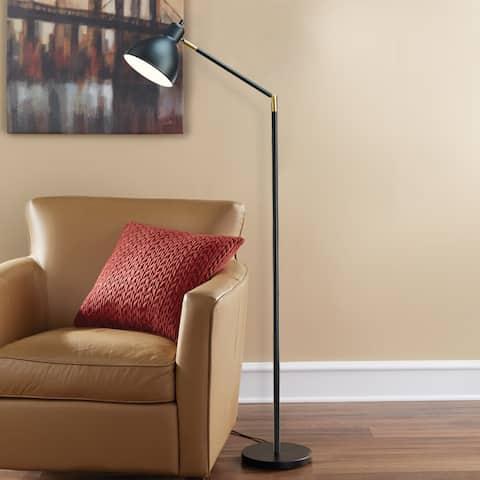 Carson Carrington Innnes Black Brass/Metal 54.5-Inch Articulating Antique Floor Lamp
