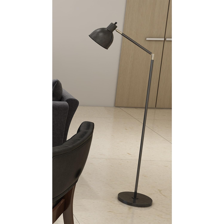 Tensor black brassmetal 545 inch articulating antique floor lamp tensor black brass metal 54 5 inch articulating aloadofball Images