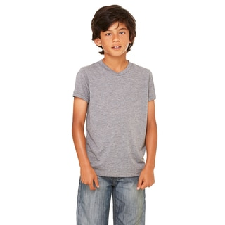 Jersey Youth Grey Triblend Short-sleeve T-shirt