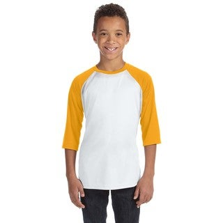 For Team 365 Youth Gold White Polyester Baseball T-hirt