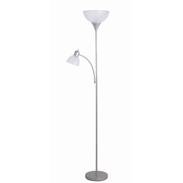 Catalina Macobey 71.65-inch Silver Torchiere Floor Lamp