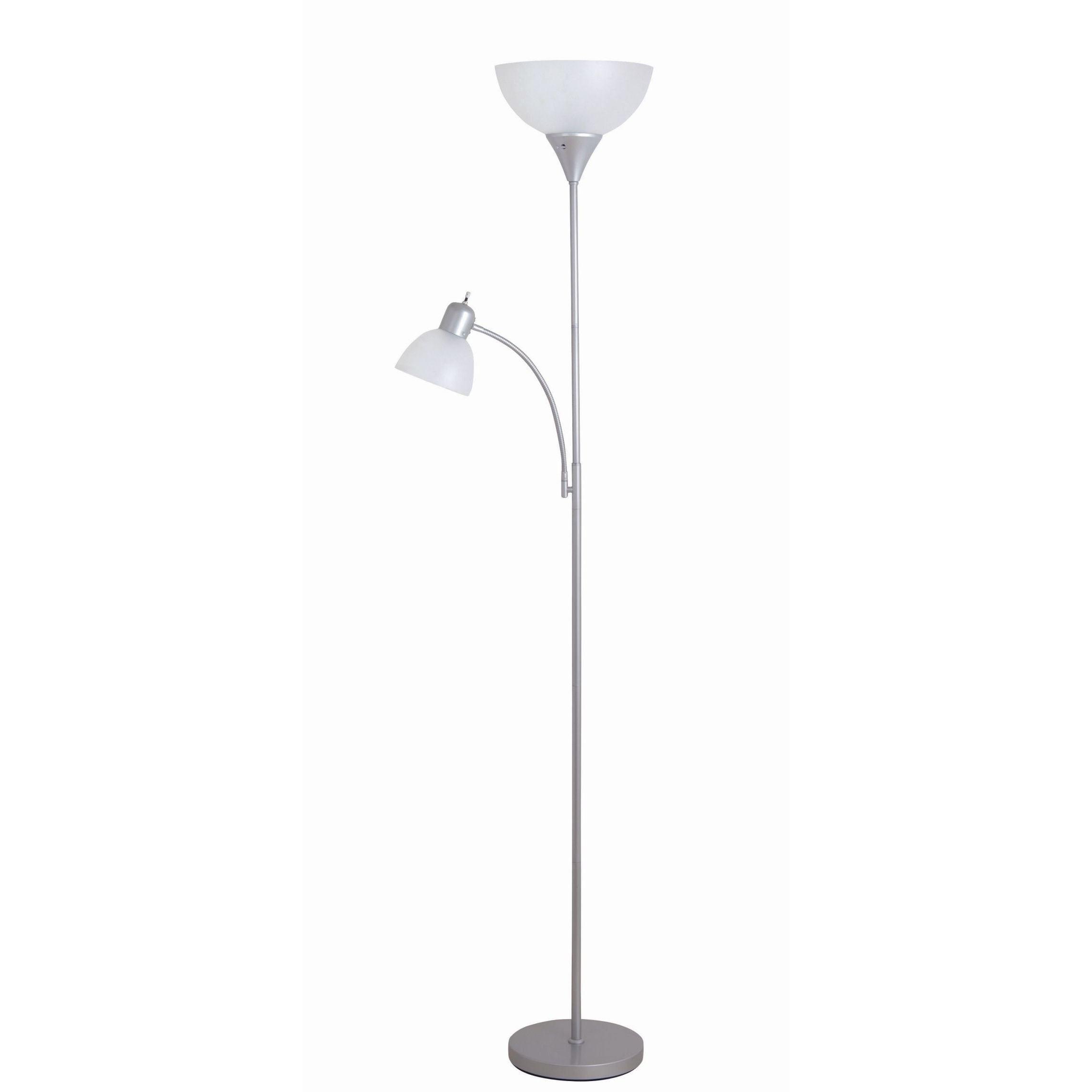 Porch & Den Roosevelt Row McKinley 71.65-inch Silver Torchiere Floor Lamp