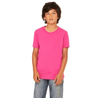 Youth Pink Polyester/Cotton Short-sleeve Jersey T-shirt