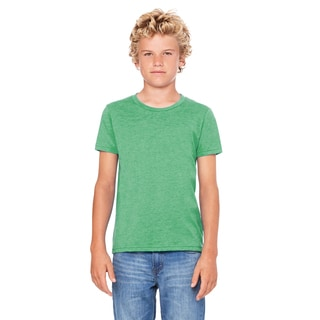 Jersey Youth Green Triblend Short-sleeve T-shirt