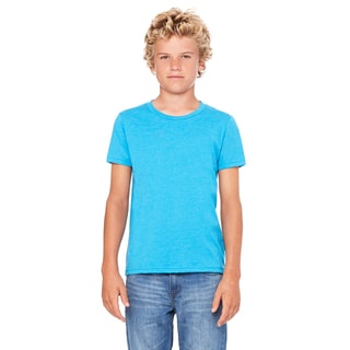 Jersey YouthNeon Blue Polyester Short Sleeve T-shirt