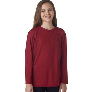 Youth Cardinal Red Performance Long-sleeved T-shirt