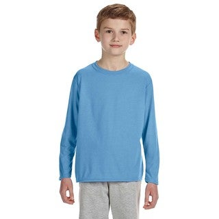 Gildan Youth Performance Carolina Blue Polyester Long-sleeve T-shirt