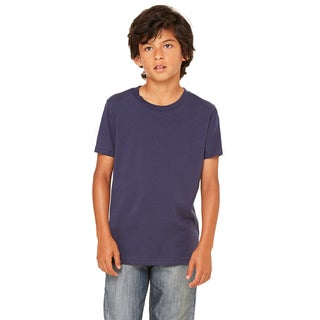 Jersey Youth Boys' Navy Blue Short-sleeve T-shirt