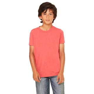 Jersey Youth Red Triblend Short-sleeve T-shirt