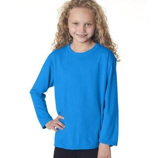Gildan Youth Sapphire Long-sleeve Performance T-shirt