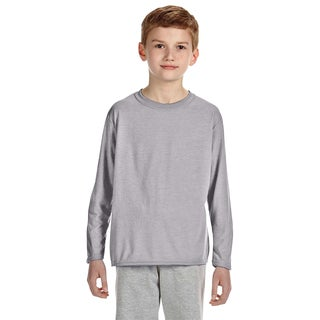 Gildan Youth Sport Grey Long-sleeved Performance T-shirt