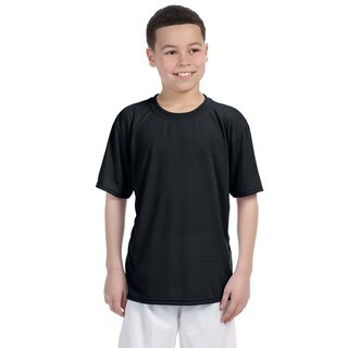 Gildan Youth Performance Black Polyester T-shirt