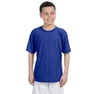 Gildan Youth Royal Polyester Performance T-shirt