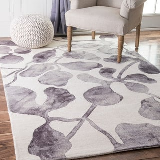 nuLOOM Handmade Contemporary Dip Dyed Grey Rug (5' x 8')