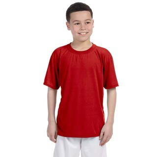 Gildan Boys' Red Polyester Performance T-shirt