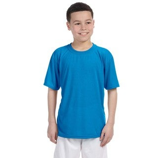 Youth Sapphire Polyester Performance T-shirt