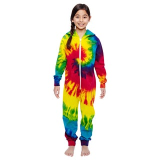 Girls' All-in-One Multicolor Reactive Rainbow Cotton/Polyester Loungewear