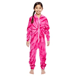 Girls' Spider Pink All-in-one Loungewear