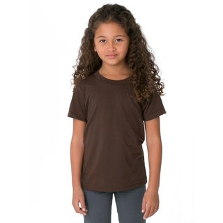 American Apparel Girls' Brown Poly-cotton Short-sleeve T-shirt