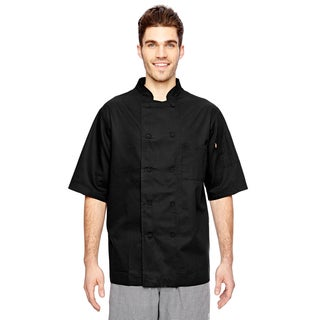 Cool Breeze Chef Men's Big and Tall Black Coat