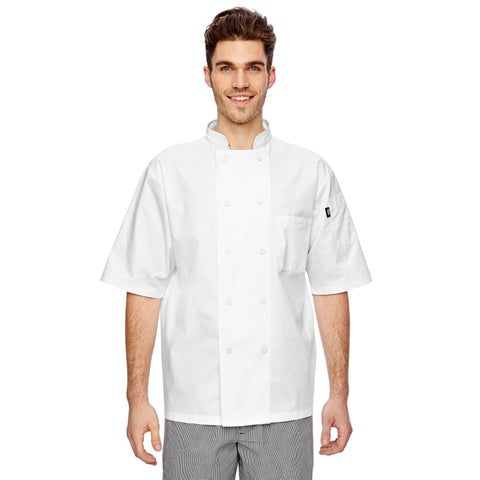 Cool Breeze Chef Men's White Big and Tall Coat