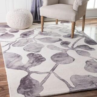 nuLOOM Handmade Contemporary Dip Dyed Grey Rug (7'6 x 9'6)