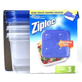Ziploc 70937 Medium Square Container 3-count