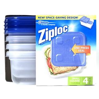 Ziploc 70935 Small Square Container 4-count