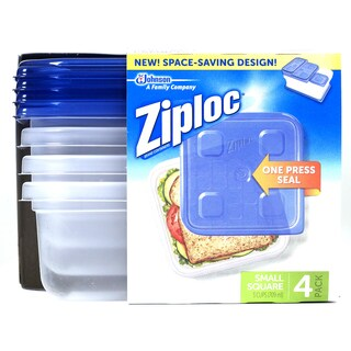 Ziploc 70935 Small Square Container 4-count