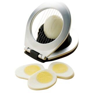 Amco 11528 Chrome Plated 3 In 1 Egg Slicer