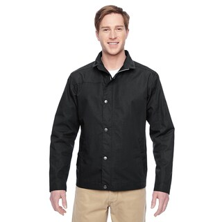 Adult Auxiliary Canvas Work Men's Big and Tall Black Jacket