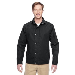 Adult Auxiliary Canvas Work Men's Black Jacket