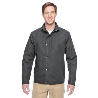 Adult Auxiliary Canvas Work Men's Big and Tall Dark Charcoal Jacket