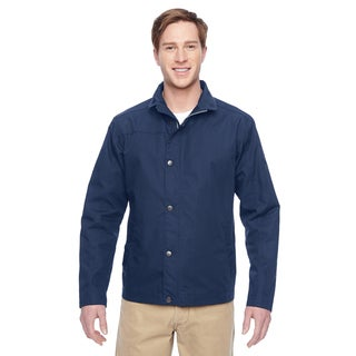 Adult Auxiliary Canvas Work Men's Big and Tall Dark Navy Jacket