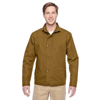 Adult Auxiliary Canvas Work Men's Big and Tall Duck Brown Jacket