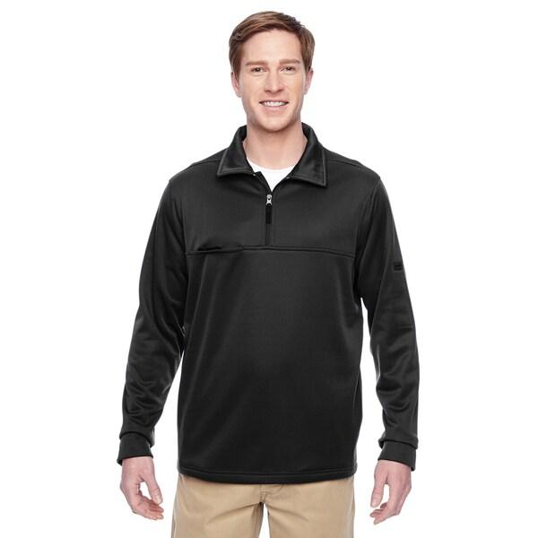 Adult Task Performance Fleece Half-Zip Mens Big and Tall Black Jacket